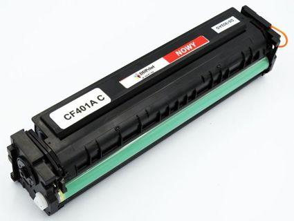 CF401A HP Cyan, Nowy zamiennik do HP Color LaserJet Pro M252 / M277 / M227 / 1400 stron / Niebieski