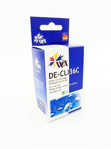 Tusz Trójkolorowy iP100 Mini260 Mini320 do Canon / CLI 36C 1511B001 / Tricolor / 15 ml / zamiennik z chipem