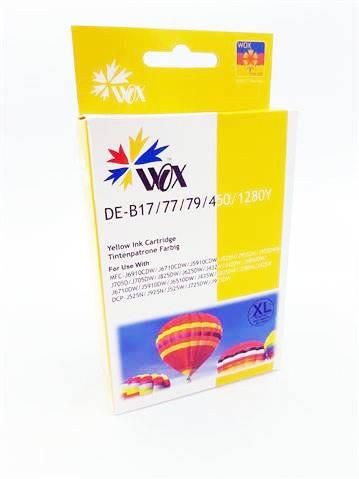 Tusz Yellow do BROTHER DCP-J725 DCP-J925 MFC-J430 MFC-J625 MFC-J825 MFC-J6510 MFC-J6910 / LC1280Y / Żółty / 27ml / zamiennik